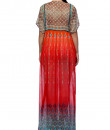 Indian Fashion Designers - Satya Suman - Contemporary Indian Designer - Printed Crystal Embellished Gown - SS-NO-SS16-STL51