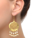 Indian Fashion Designers - Silvermerc - Contemporary Indian Designer - Chic Pearls Dangling Earrings - SM-SS16-SME-1018
