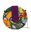 Indian Fashion Designers - The Purple Sack - Contemporary Indian Designer - Hand Drawn Graphic Round Sling - TPS-SS16-J10