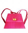 Indian Fashion Designers - Tresclassy - Contemporary Indian Designer - Hot Pink Snake Print Sling - TC-SS16-TC1002
