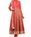 Indian Fashion Designers - True Browns - Contemporary Indian Designer - Gold Jaal Peach Suit - TBS-SS16-TB-00932