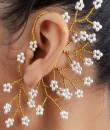 Indian Fashion Designers - Rejuvenate Jewels - Contemporary Indian Designer - Pearlicious Back Earcuff  - RJJ-SS16-RJEC327