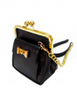 Indian Fashion Designers - Tresclassy - Contemporary Indian Designer - Black Bow Lock Classic Frame Bag - TC-SS16-TC1020
