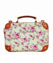 Indian Fashion Designers - Tresclassy - Contemporary Indian Designer - Classic Sea Green Floral Briefcase Bag - TC-SS16-TC1024