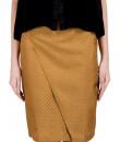 Indian Fashion Designers - True Browns - Contemporary Indian Designer - Gold & Green Spade Skirt - TBS-SS16-TB1039