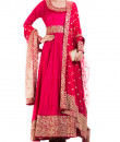 Indian Fashion Designers - Anju Agarwal - Contemporary Indian Designer - Crimson Anarkali Suit - ANJA-AW16-LSA-6979