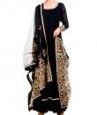 Indian Fashion Designers - Anju Agarwal - Contemporary Indian Designer - Embellished Black Anarkali Suit - ANJA-AW16-LSA6329