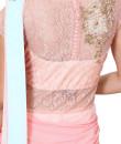 Indian Fashion Designers - Anju Agarwal - Contemporary Indian Designer - Peach and Aqua  Drape Gown Saree - ANJA-AW16-LSA6591