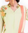 Indian Fashion Designers - Anju Agarwal - Contemporary Indian Designer - Pistachio Green Kurti Set - ANJA-AW16-WS-23