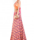 Indian Fashion Designers - Anushree Agarwal - Contemporary Indian Designer - Peach Pineapple Printed Lehenga Set - ANUA-AW16-AEL-0082