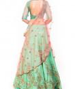 Indian Fashion Designers - Anushree Agarwal - Contemporary Indian Designer - Aqua Peach Heavy Lehenga - ANUA-AW16-AEL056