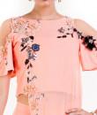 Indian Fashion Designers - Anushree Agarwal - Contemporary Indian Designer - Pale Peach Pallazo Set - ANUA-AW16-AES-474