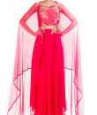 Indian Fashion Designers - Anushree Agarwal - Contemporary Indian Designer - Bright Pink Suit Set - ANUA-AW16-AES-476