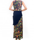 Indian Fashion Designers - Anushree Agarwal - Contemporary Indian Designer - Midnight Botanical Printed Crop Top Set - ANUA-AW16-AWT2228BY2229