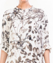 Indian Fashion Designers - Anushree Agarwal - Contemporary Indian Designer - Black And White Botanical Garden Print Tunic - ANUA-AW16-AWT2235