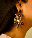 Indian Fashion Designers - Artsie Ville - Contemporary Indian Designer - Earlene Earrings - ARV-SS17-AVE046