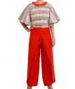 Indian Fashion Designers - Chrkha - Contemporary Indian Designer - Cape Set with Draped pants - DMC-AW16-CDP-01