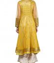Indian Fashion Designers - Devnaagri - Contemporary Indian Designer - Stylish Mustard Anarkali - DEV-AW16-HS-91