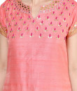 Indian Fashion Designers - Devnaagri - Contemporary Indian Designer - Rose Toned Sharara - DEV-AW16-SH-13