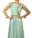 Indian Fashion Designers - Kakandora - Contemporary Indian Designer - Blue Flared Dress - KAK-AW16-KAKPF015