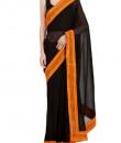 Indian Fashion Designers - Kyra - Contemporary Indian Designer - Blingy Black Saree - KYA-AW16-KB032
