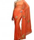 Indian Fashion Designers - Kyra - Contemporary Indian Designer - Chaand Tara Saree - KYA-AW16-KO012
