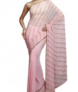 Indian Fashion Designers - Kyra - Contemporary Indian Designer - Slanted Charm Saree - KYA-AW16-KP010