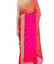 Indian Fashion Designers - Kyra - Contemporary Indian Designer - Pink Galaxy Saree - KYA-AW16-KP022