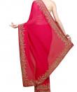 Indian Fashion Designers - Kyra - Contemporary Indian Designer - Foliage Dream Saree - KYA-AW16-KR005