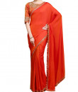 Indian Fashion Designers - Kyra - Contemporary Indian Designer - Satin Dazzle Saree - KYA-AW16-KR007