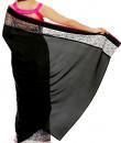 Indian Fashion Designers - Mandira Bedi - Contemporary Indian Designer - Black White Half Half Saree - MBI-AW16-HHSTNET-001