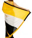 Indian Fashion Designers - Mandira Bedi - Contemporary Indian Designer - Hand Embroidered Yellow and Black Saree - MBI-AW16-TRLEMB-001