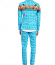 Indian Fashion Designers - Mr. Ajay Kumar - Contemporary Indian Designer - Dharma Printed Jacket - MAK-AW16-AKAW16-JK06
