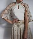 Indian Fashion Designers - Nidhi Singh - Contemporary Indian Designer - Halter Top Cape Set - NDC-SS17-NIDSP10