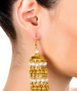 Indian Fashion Designers - Paisley Pop - Contemporary Indian Designer - Rahaan Kaleera Jhumka - POP-AW16-PPXW004