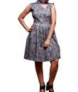 Indian Fashion Designers - Prisha by Shivesh - Contemporary Indian Designer - Grey High Neck Dress - PRSH-AW16-Verv-24