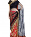 Indian Fashion Designers - Priti Sahni - Contemporary Indian Designer - Half and Half Pink Blue Saree - PRS-SS17-PSS442