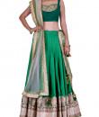 Indian Fashion Designers - Rang - Contemporary Indian Designer - Pretty Green Lehenga - RNG-AW16-2-032