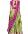 Indian Fashion Designers - Rang - Contemporary Indian Designer - Mauve and Green Lehenga - RNG-AW16-2-043
