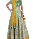 Indian Fashion Designers - Rang - Contemporary Indian Designer - Sea Green Lehenga - RNG-AW16-2-051