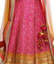 Indian Fashion Designers - Rang - Contemporary Indian Designer - Orange and Pink Lehenga - RNG-AW16-2-057