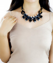 Indian Fashion Designers - Rhea - Contemporary Indian Designer - Midnight In Berlin Necklace - RH-AW16-1010045