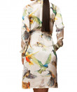 Indian Fashion Designers - Siddartha Tytler - Contemporary Indian Designer - Humming Bird Print Shirt Dress - ST-AW16-MS16-DRS-007