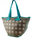 Indian Fashion Designers - The Purple Sack - Contemporary Indian Designer - Fresh Aqua Tote - TPS-AW16-TPSS49