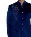 Indian Fashion Designers - WYCI - Contemporary Indian Designer - Regal Blue Bandhgala - WYCI-SS16-S6NVv002