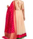 Indian Fashion Designers - Zainah By Pooja Khokha Arora - Contemporary Indian Designer - Rusched Anarkali - ZIA-SS17-VE04