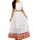Indian Fashion Designers - trueBrowns - Contemporary Indian Designer - White Sequined Gown - TB-AW16-TB1154