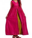 Indian Fashion Designers - trueBrowns - Contemporary Indian Designer - Peach Pink Sufi Dress - TB-AW16-TB1171