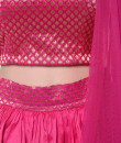 Indian Fashion Designers - trueBrowns - Contemporary Indian Designer - Pure Brocade Pink Lehenga - TBS-AW16-4-TBAW45