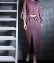 Indian Fashion Designers - Nidhi Singh - Contemporary Indian Designer - Slit Body Fit Dress - NDC-SS17-NIDSS019
